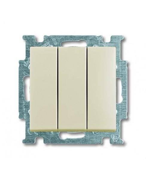 Basic 55 - Выключатель трехклавишный (сл.кость)